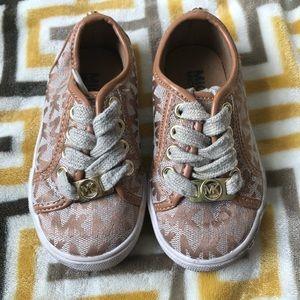 Michael Kors Tan Low Top Sneakers Toddler Size 6